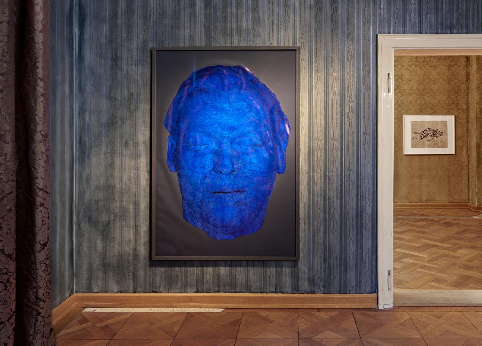 """Installationsansicht der Ausstellung """"BEIDES"""" v.l.n.r. Markus Uhr, Bernhard Prinz"""