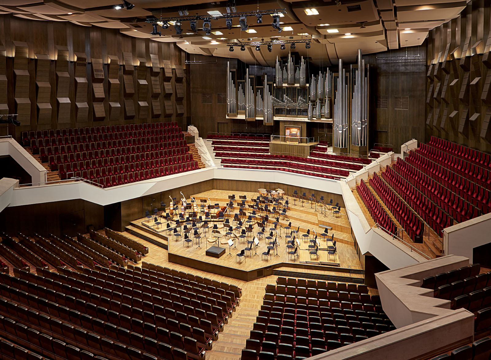 Architekturaufnahme vom großen Konzertsaal