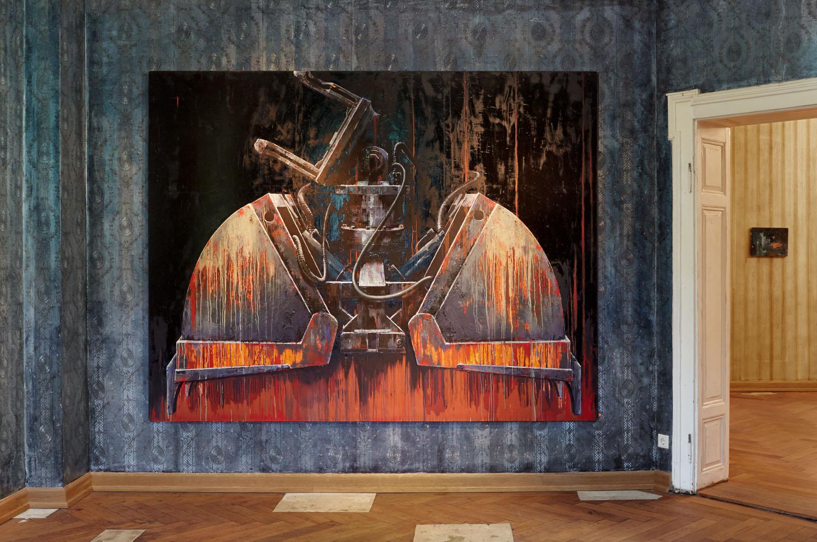 Installationsansicht aus der Einzelausstellung von Katrin Heichel