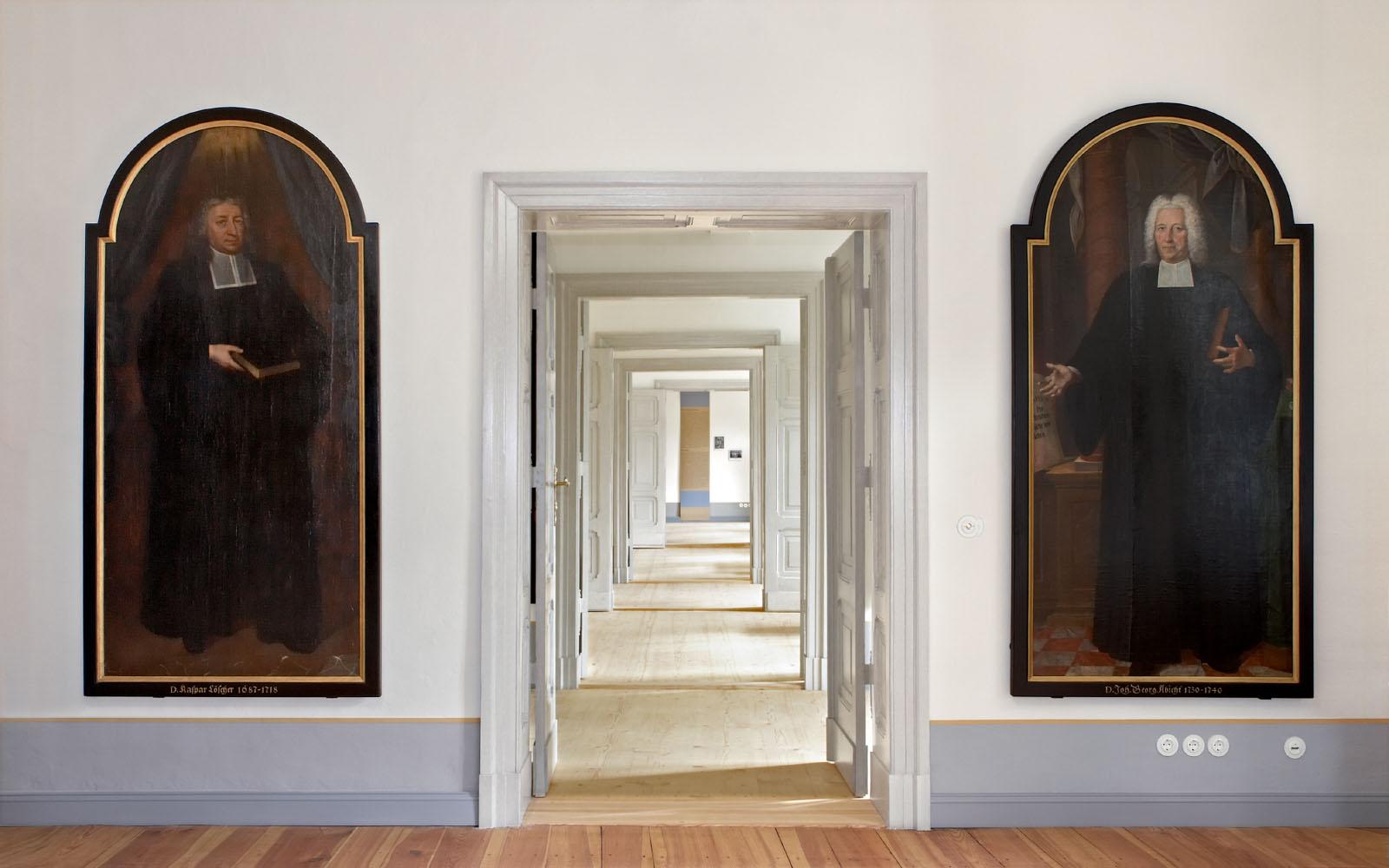 """Fotodokumentation des Bugenhagenhauses und der Dauerausstellung """"Fürbilde der Herde"""" in Wittenberg/ Wüstenrot Stiftung"""