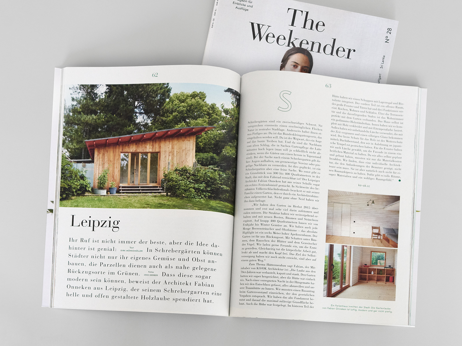 Magazinveröffentlichung in The Weekender No 28